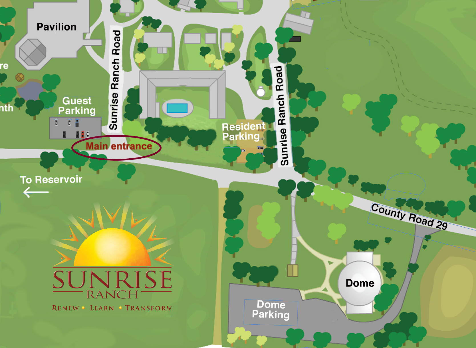 Getting Here | Sunrise Ranch on